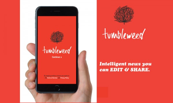 Tumbleweed focuses on sharing to make the news not boring