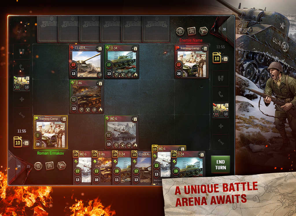 World of Tanks Generals battle arena