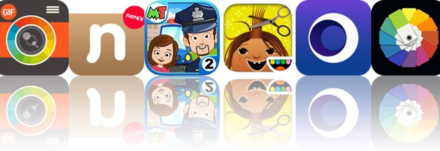 Today's apps gone free: Gif Me, Note'd, My Town: Police and more