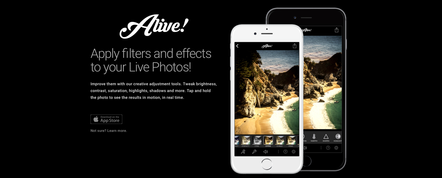 Take your Live Photos to a new level with Alive!