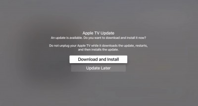 The new Apple TV receives its first software update