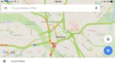 Spoken traffic alerts arrive in a Google Maps update