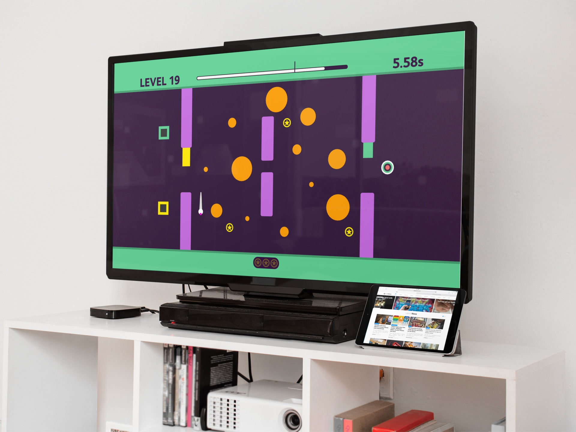 Beat your own fastest time on Super Puzzle Maze for Apple TV