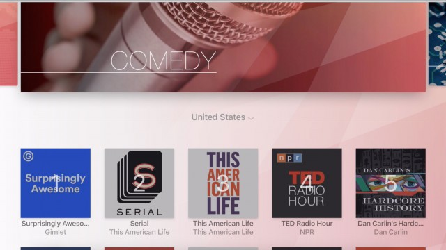 The first podcast app arrives for the Apple TV, and it's not from Apple