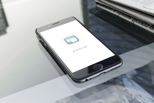 Jot down your New Year's resolutions with Everlist