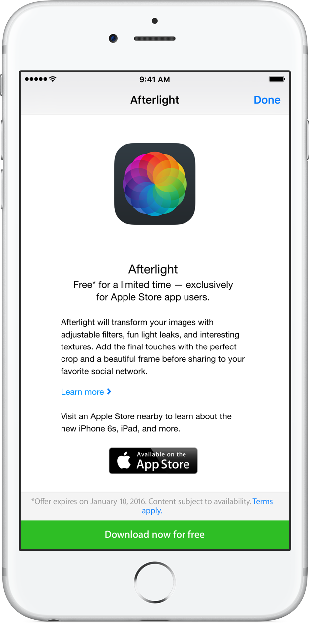 Apple Store app Afterlight download