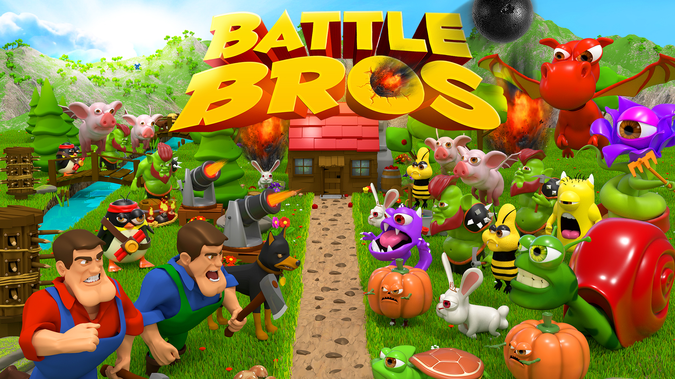Defend your precious land against evil minions in Battle Bros