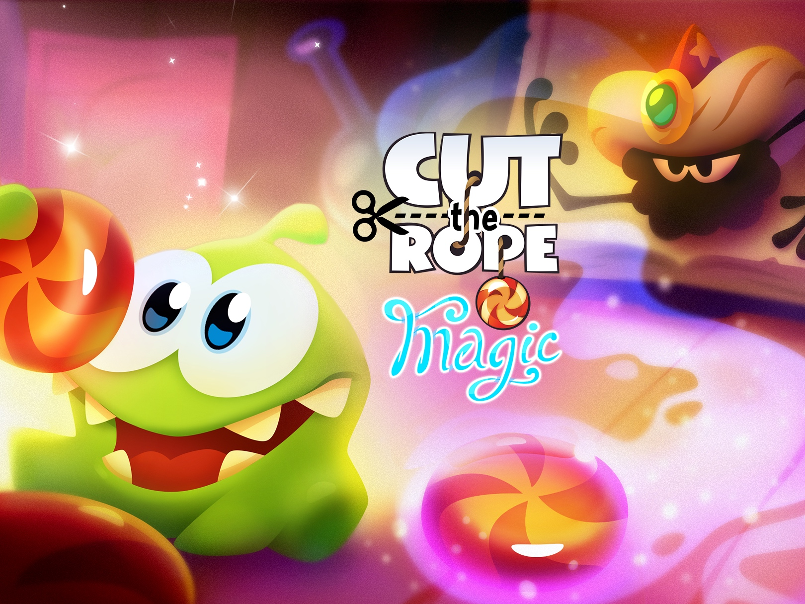 Abracadabra! Om Nom is back in Cut the Rope: Magic, out now on iOS