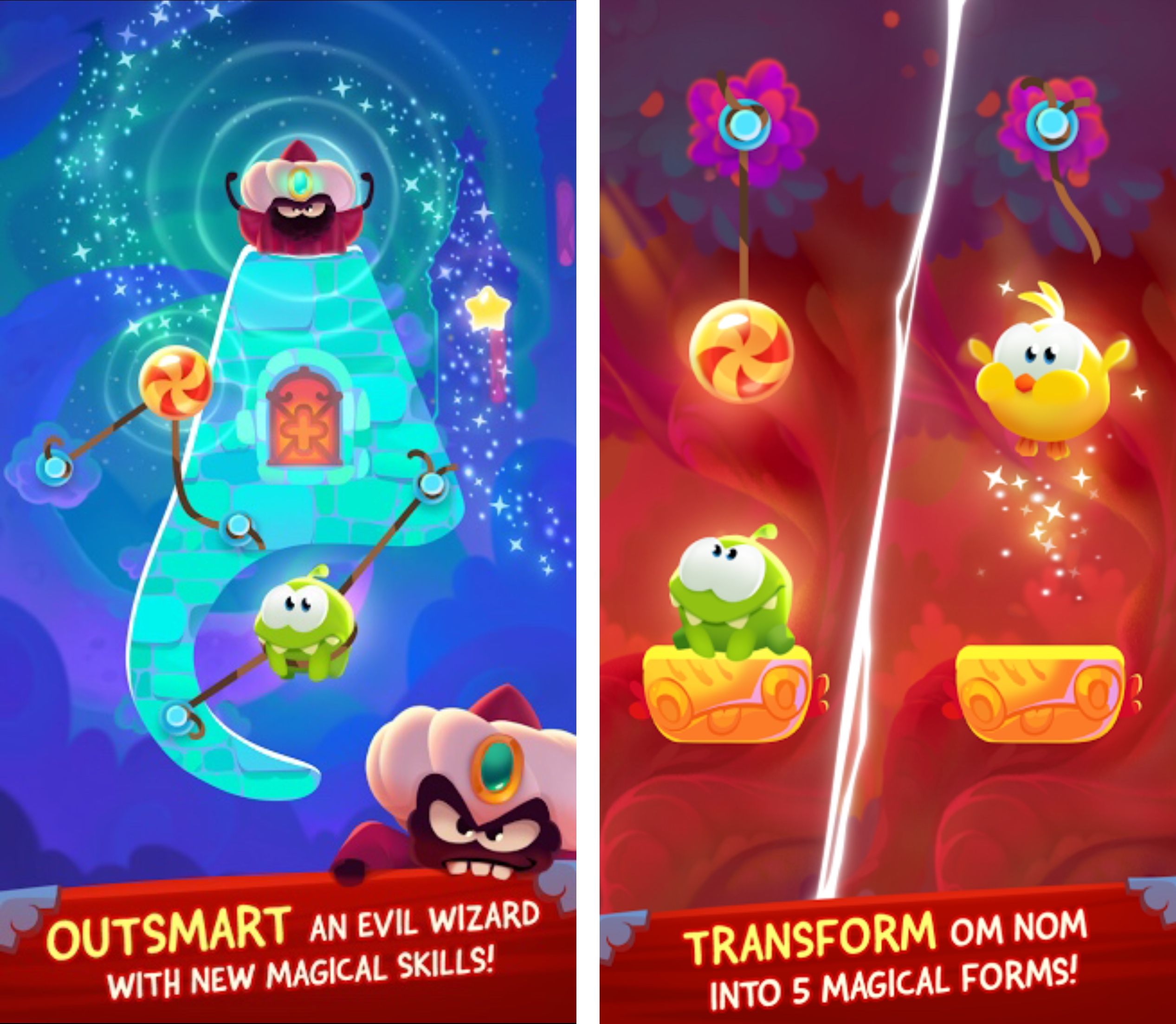 Cut the Rope- Magic screens