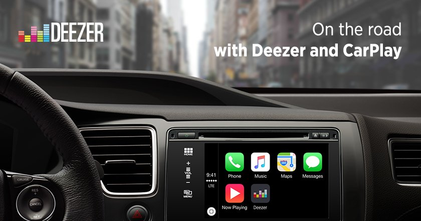 Deezer Music with CarPlay