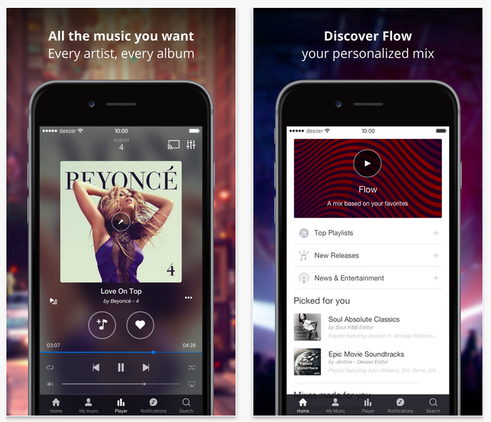 Deezer for iPhone