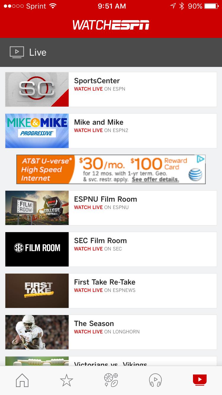 ESPN live stream | Watch ESPN TV online