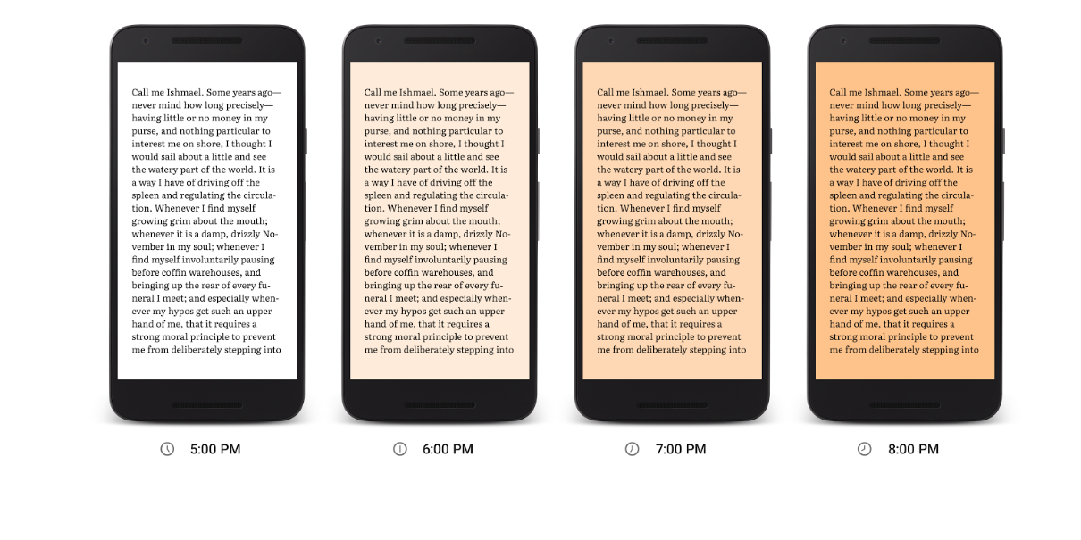 Google Play Books Night Light