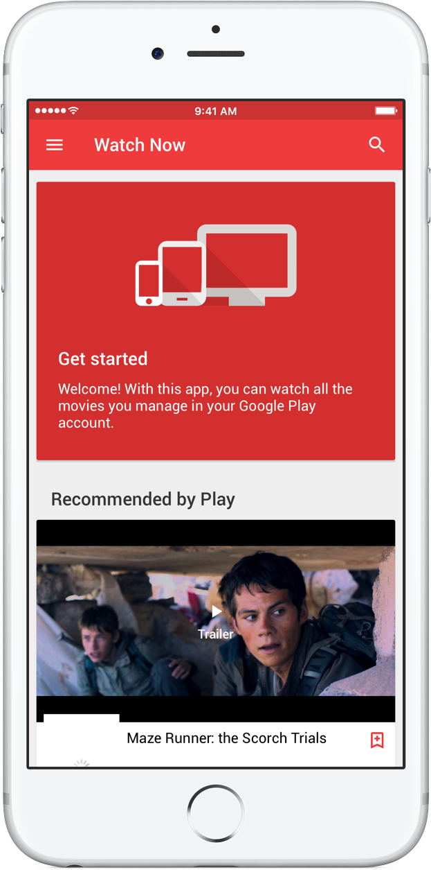 Google Play Movies & TV Recommended by Play