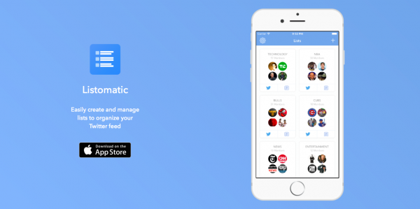 Quickly and easily create and manage Twitter lists with Listomatic