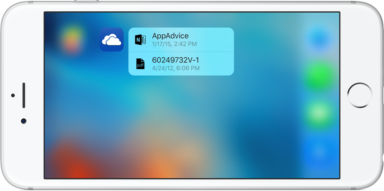 OneDrive 3D Touch