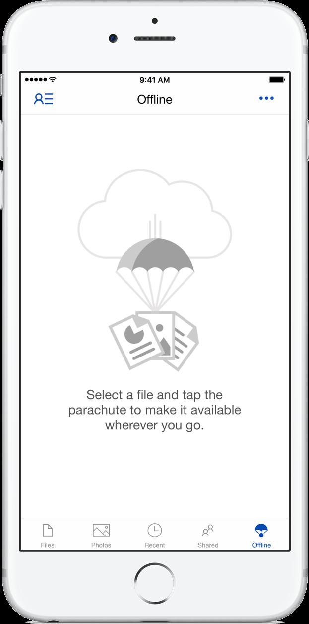 OneDrive Offline tab