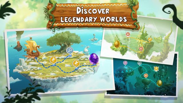 Rayman Adventures worlds