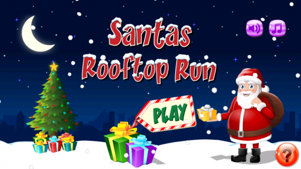Nice gets a gift, naughty gets a stinker in Santas Rooftop Run