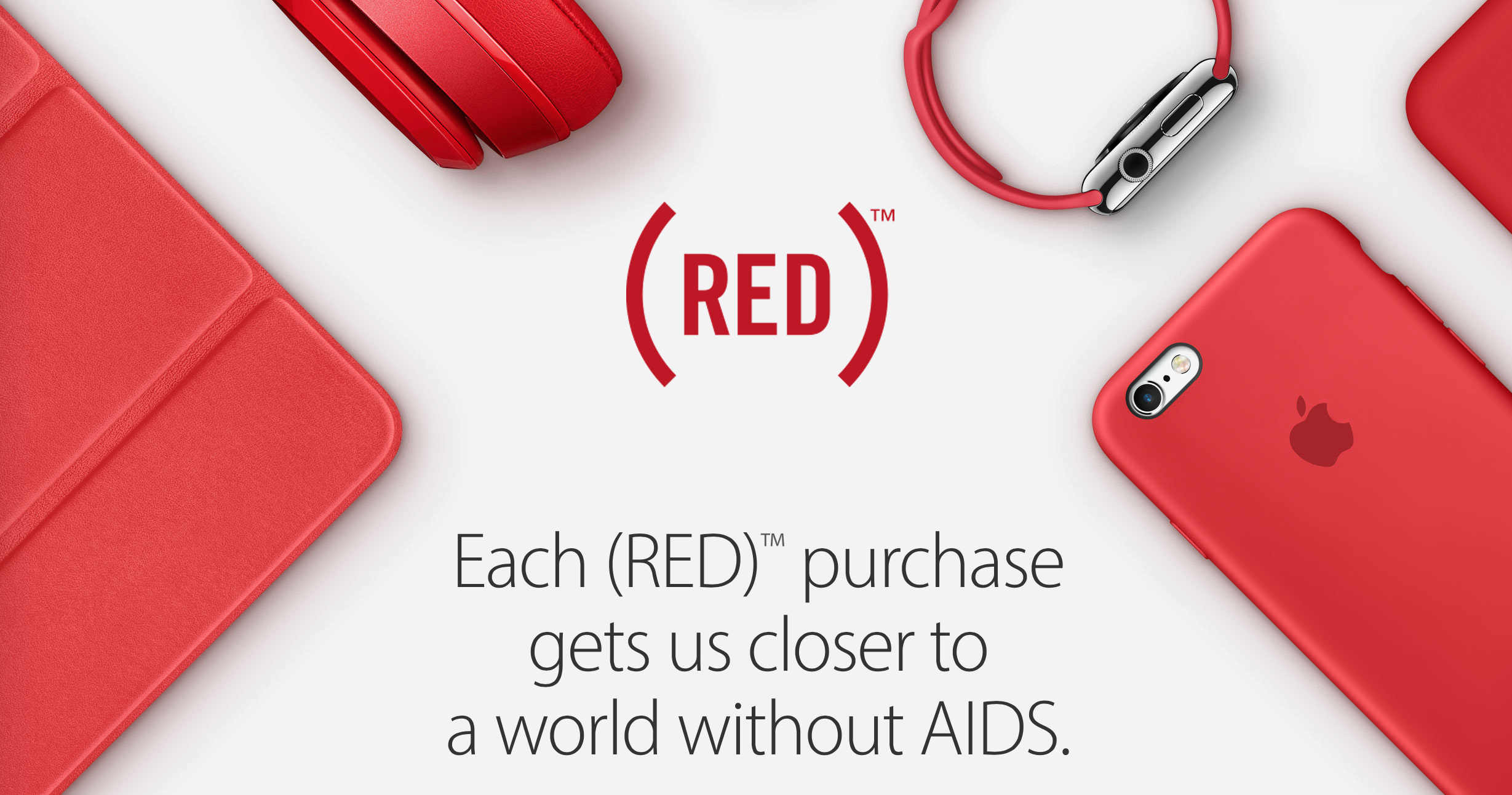 Apple paints its store logos and home page red for World AIDS Day