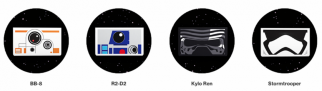 "The ""Star Wars"" characters making an appearance in Verizon's Google Cardboard headsets."