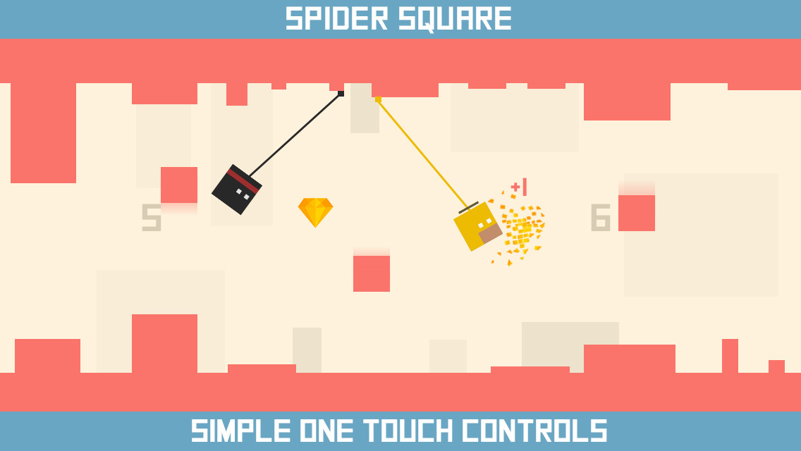 Spider Square simple one-touch controls