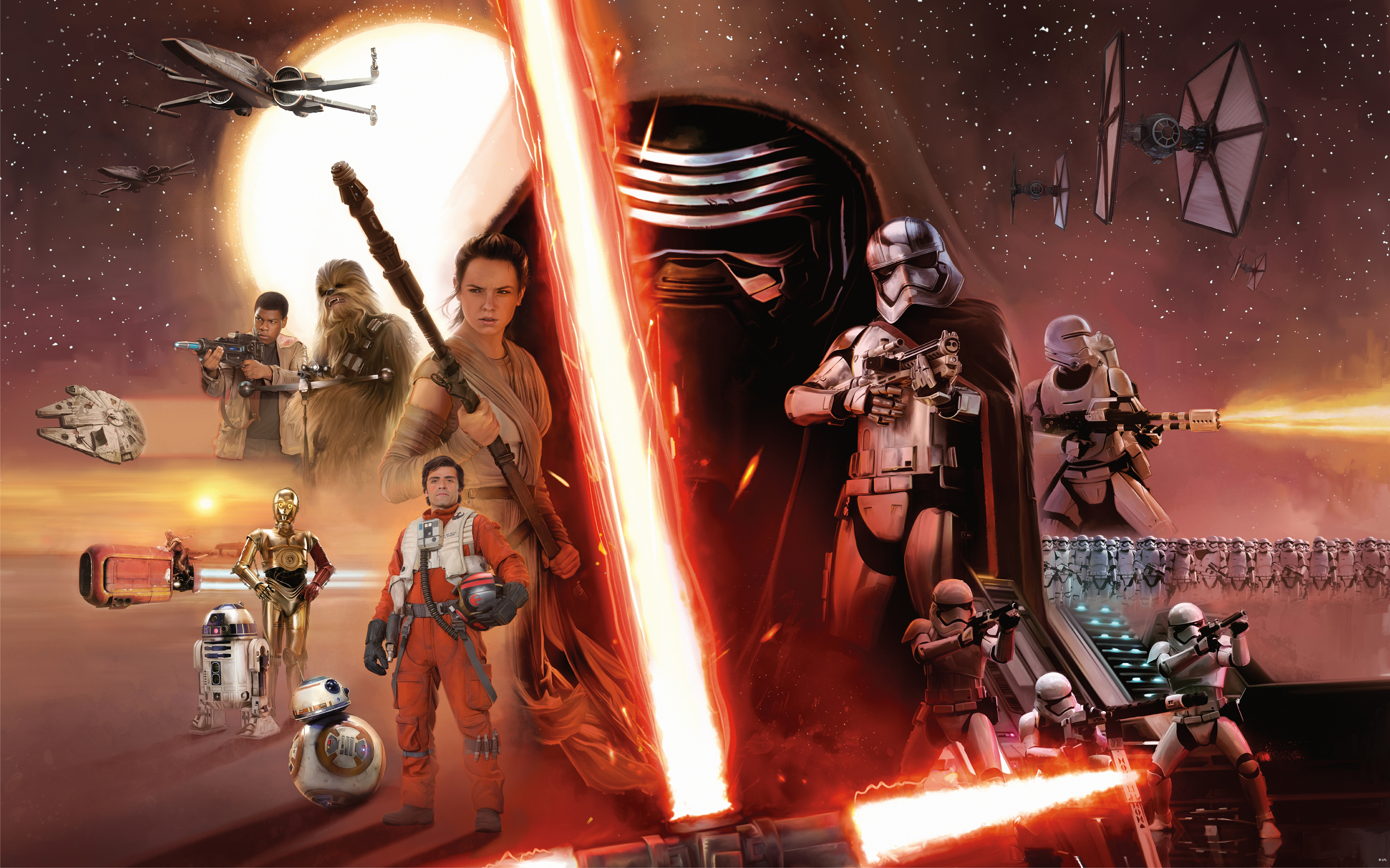 The Force Awakens in Star Wars: Card Trader and Galaxy of Heroes