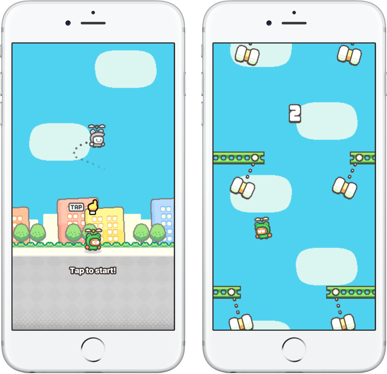 Swing Copters 2 tap to start