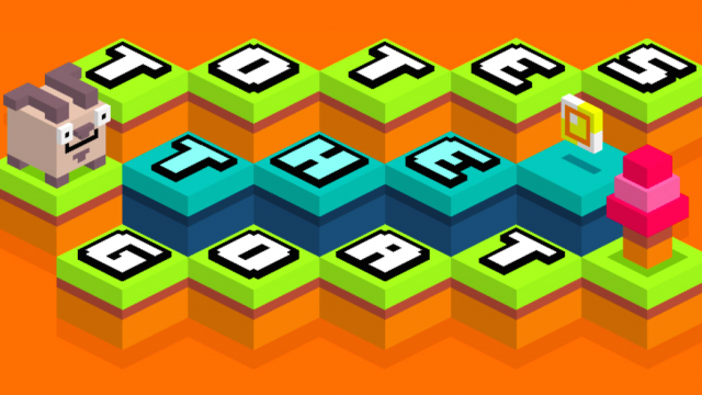 Qbert meets Crossy Road in Totes the Goat