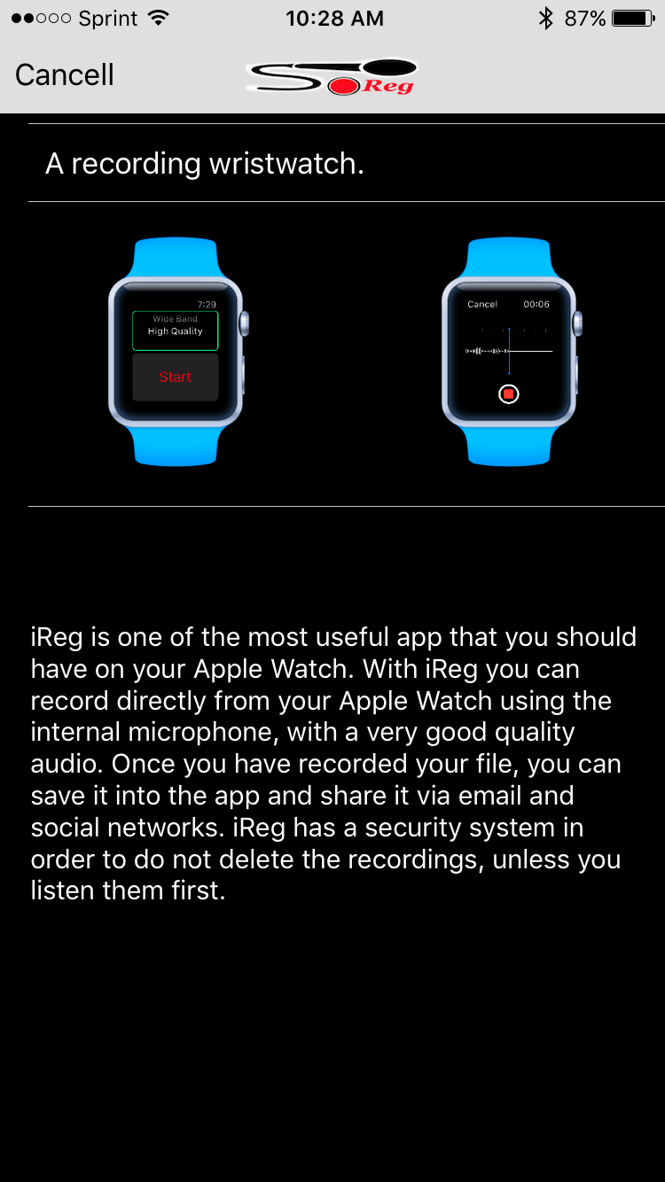 iReg for Apple Watch