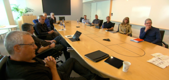 Apple's weekly executive meetings at its Cupertino campus.