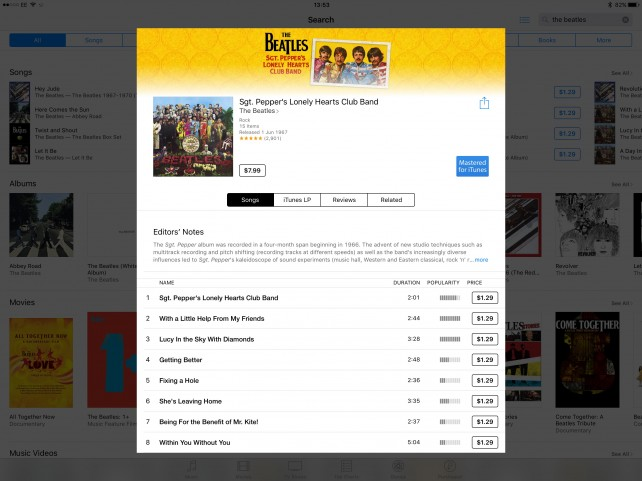 The Beatles' music catalog is already available on the iTunes Store. Soon, however, you'll be able to stream it, too.