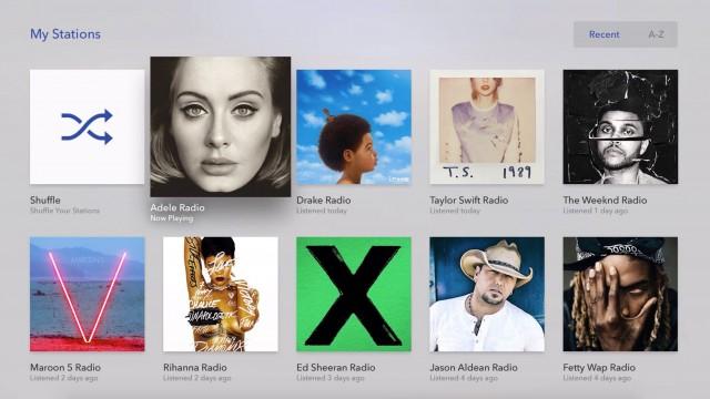 Popular streaming music service Pandora arrives on the Apple TV