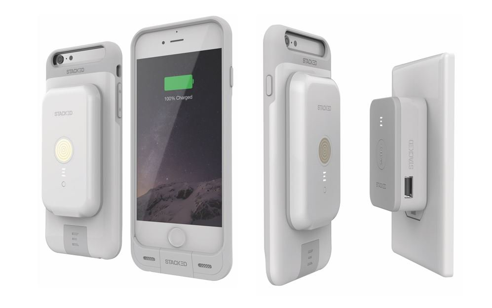 The Stack Pack is a wireless charging system for the iPhone 6s/6 and 6s/6 Plus