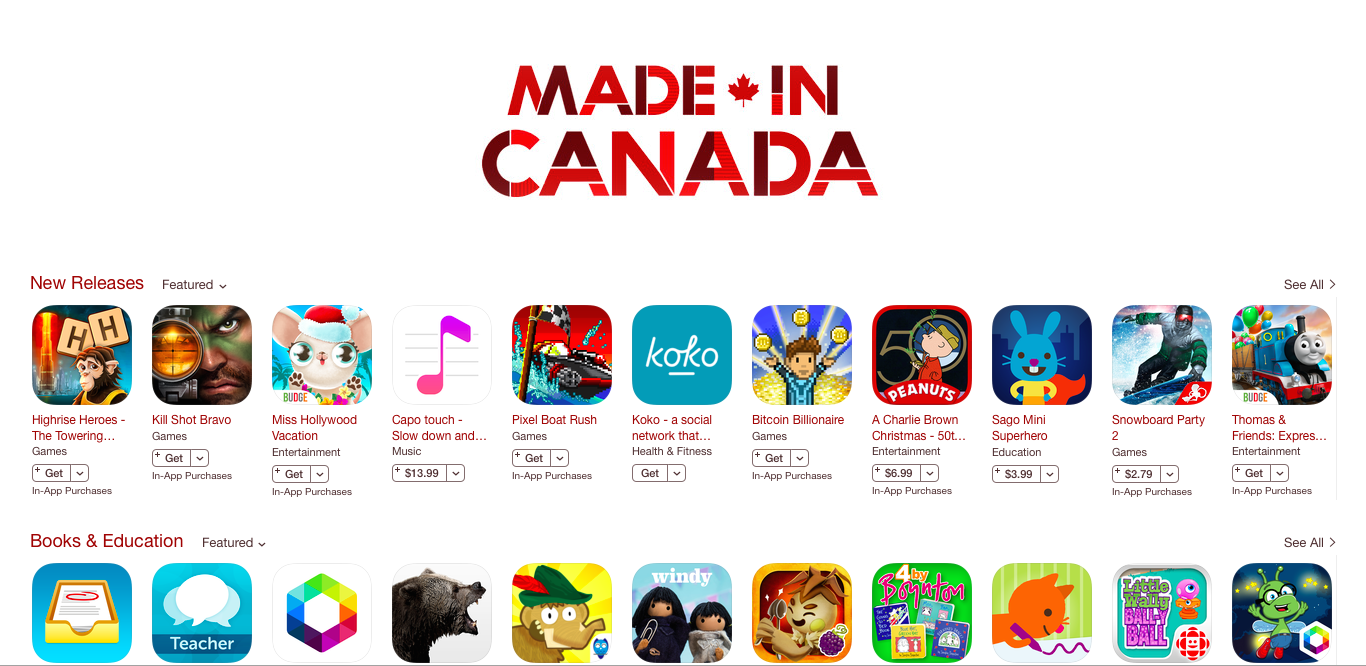 App Store Made in Canada
