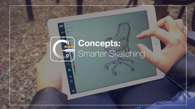 Draw on the go, Concepts: Smarter Sketching is now on iPhone