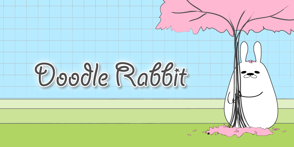Hippity hop through the seasons as a Doodle Rabbit