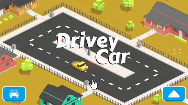 Just turn to the left, if you can, in Drivey Car