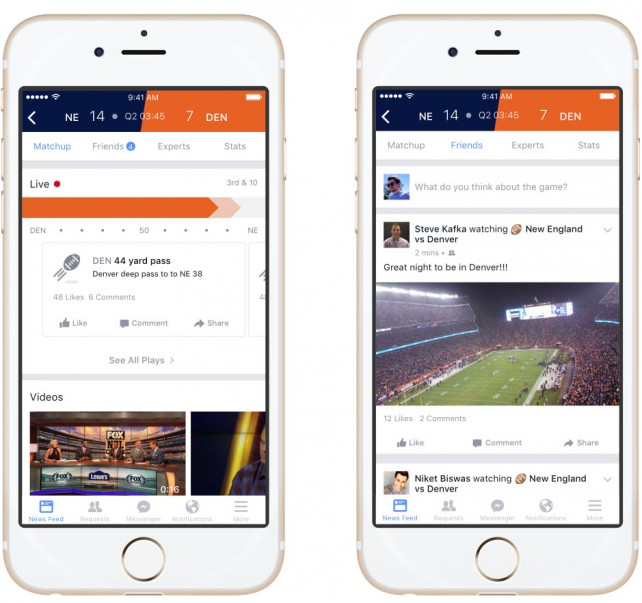 New Facebook Sports Stadium lets you enjoy games with pals