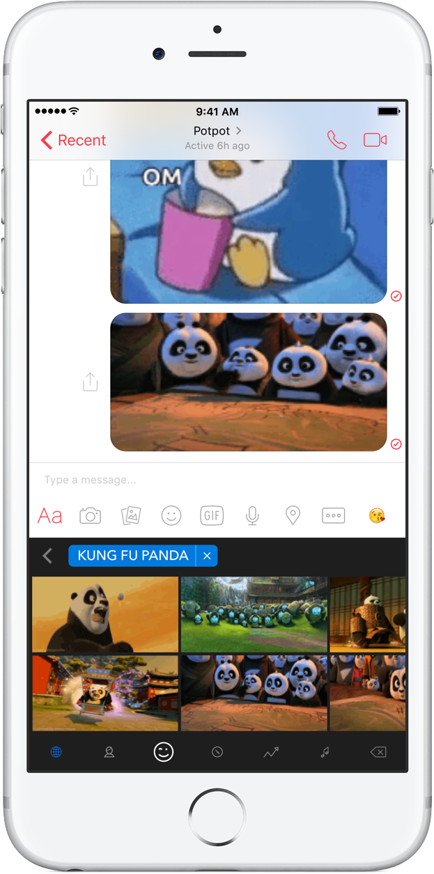 GIF Keyboard Kung Fu Panda