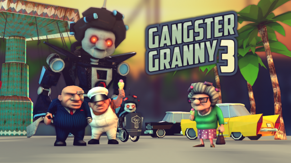 Trade in your girdle for a gun in Gangster Granny 3