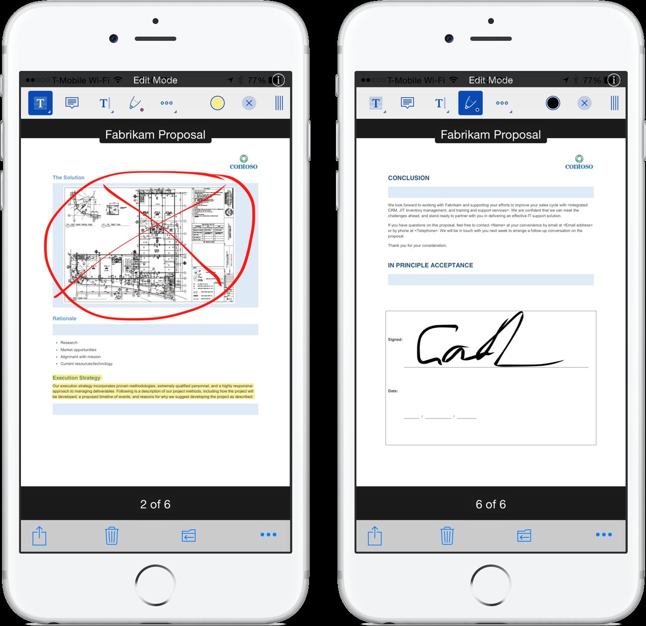 OneDrive PDF annotation