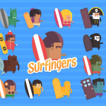 Catch a wave or even a snowy hill in Surfingers