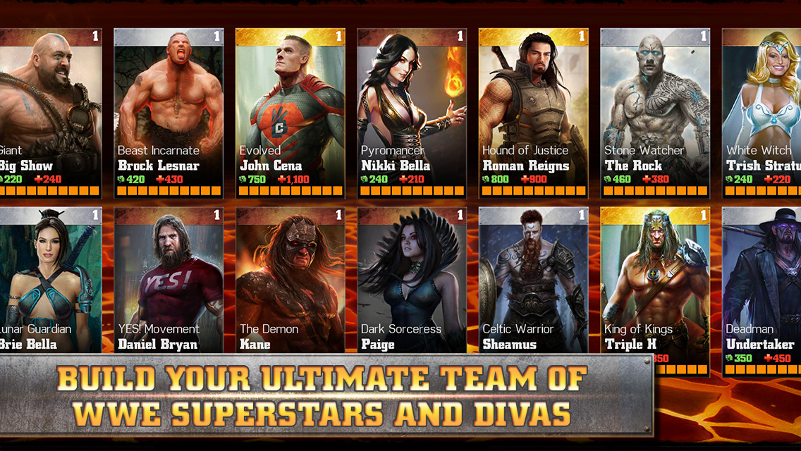 WWE Immortals Superstars Divas