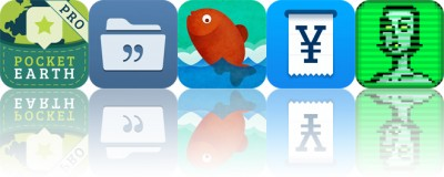 Today's apps gone free: Pocket Earth, Quotes Folder, Perfect Cut and more