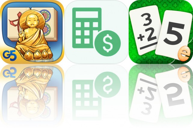 Today's apps gone free: Mahjong Artifacts, Calculate My Tips, Addition Flashcard and more