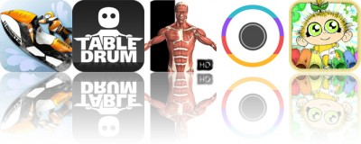 Today's apps gone free: Aqua Moto Racing 2, TableDrum, Visual Anatomy and more