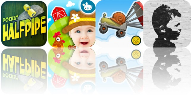 Today's apps gone free: Pocket HalfPipe, Peekaboo You Baby, Escargot Kart and more