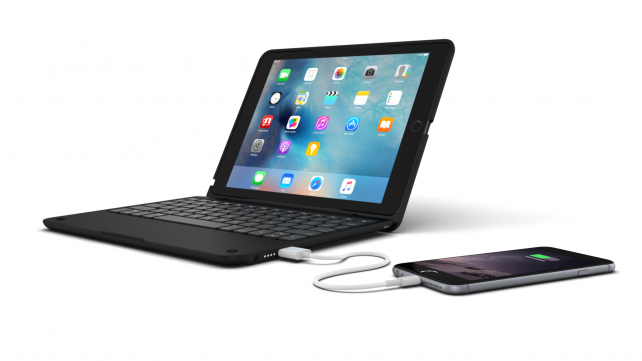 ClamCase+ Power for iPad Air 2.