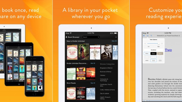 Kindle for iOS gets social sharing features, parallel downloads